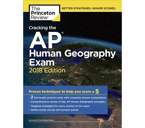Princeton Review Cracking the AP Human Geography Exam 2018 (Paperback) - image 1 of 1