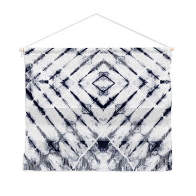 Little Arrow Design Co Shibori Wall Hanging Landscape Tapestries Blue - Deny Designs