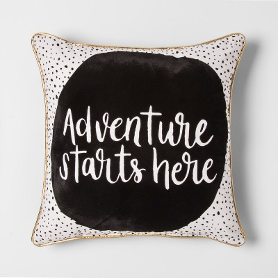 Adventure Starts Here Throw Pillow - Pillowfort™