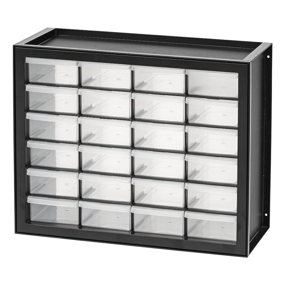 Image of IRIS 24 Drawer Parts Cabinet - Black