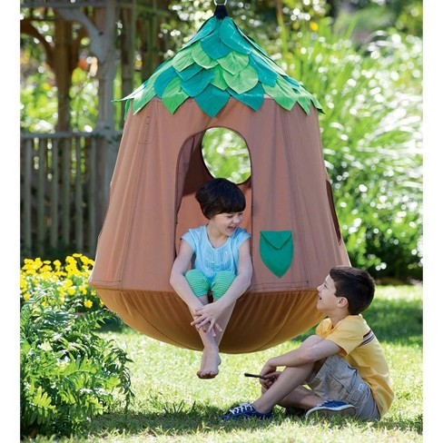 Prime Woodland Wonderland Hugglepod Hangout Kids Hanging Chair Hearthsong Pabps2019 Chair Design Images Pabps2019Com
