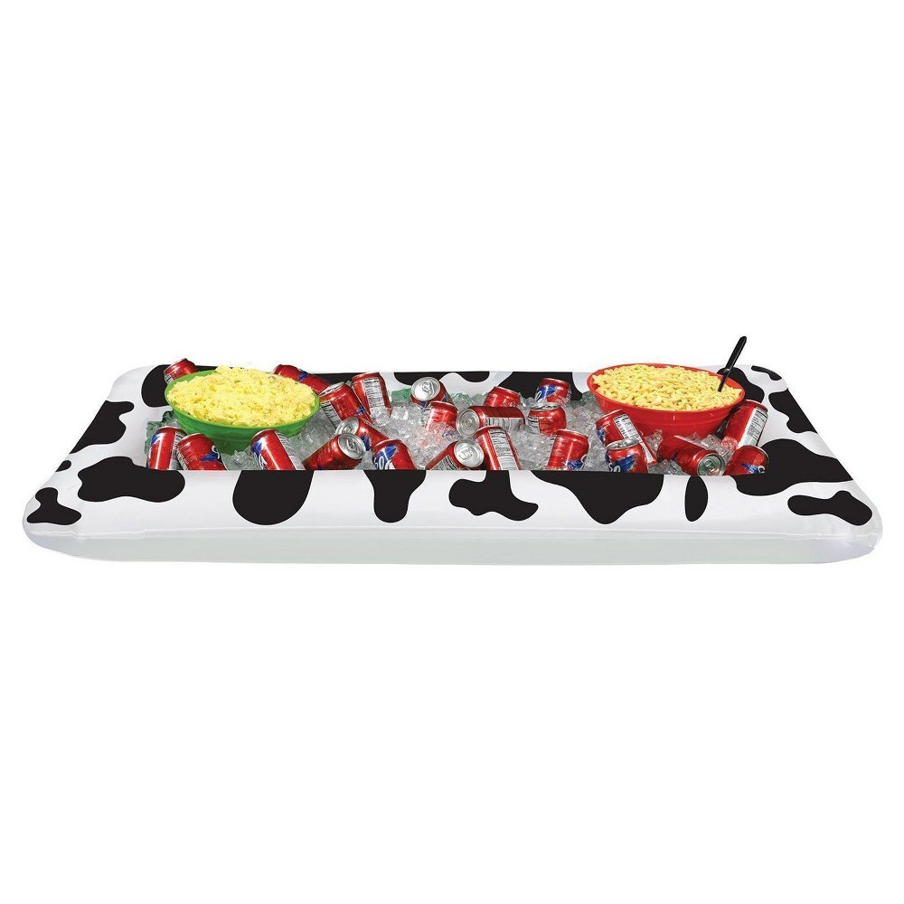 Image of Cow Print Buffet Cooler, party decorations and accessories