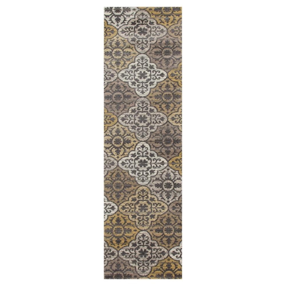 Yellow Classic Woven Runner - (2'X8') - Art Carpet