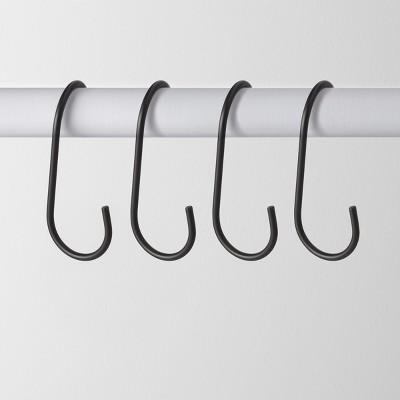 4pk Metal J Hook Hanger Black - Made By Design™