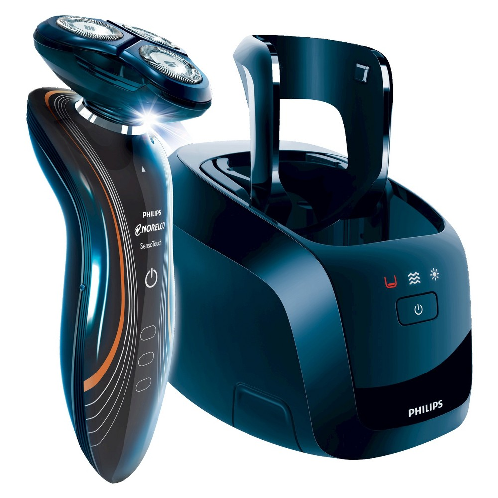 Philips Norelco SensoTouch 2D Wet & Dry Men's Rechargeable Electric Shaver with Cleaning Station - 1160X/42, Blue