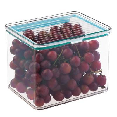iDESIGN Kitchen 2qt Bin Box with Sealed Lid Clear