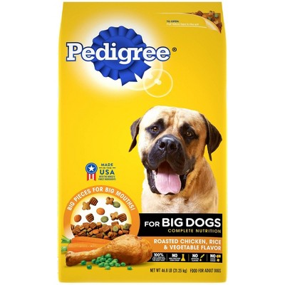 Pedigree Roasted Chicken, Rice & Vegetable Flavor Big Dogs Adult Complete Nutrition Dry Dog Food - 46.8lbs
