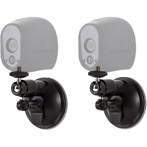 Wasserstein Adjustable Indoor/Outdoor Suction Cup Wall Mount for Arlo Pro, Pro 2, Pro 3, Pro 4, Ultra, Ultra 2, HD, Go, Essential Cameras (2 Pack) - image 1 of 4