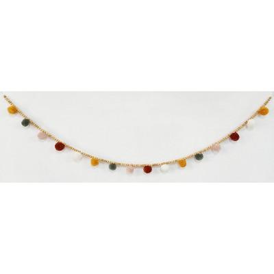 """60"""" Pom Pom with Wooden Beads Garland - Opalhouse™"""