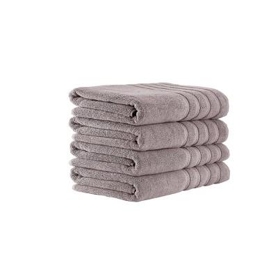 4pc Antalya Turkish Bath Towel Set Gray - Makroteks