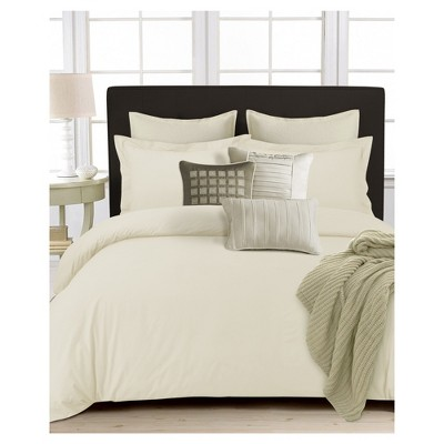 350tc Cotton Percale Solid Duvet Cover Set 3pc - Tribeca Living®