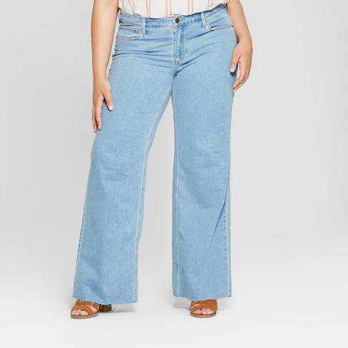 309b688b9a297 Women s Plus Size Wide Leg Jeans - Universal Thread™ Light Wash   Target