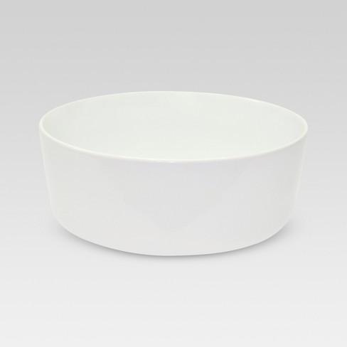 Bowl Small Basic Modern White 62.4oz - Threshold™ - image 1 of 1