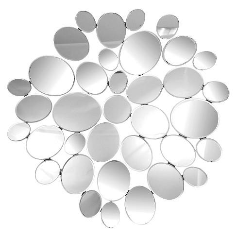 Amelia Round Decorative Wall Mirror Silver - Abbyson Living - image 1 of 4
