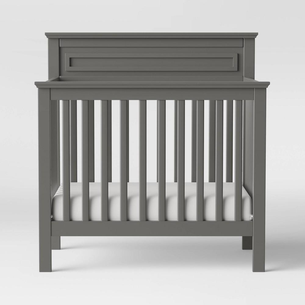 Image of Davinci Autumn 4-In-1 Mini Crib And Twin Bed - Slate, Grey