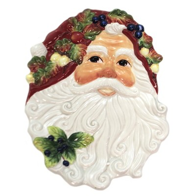 "Tabletop 11.25"" Santa Face Plate Christmas Party Serving Cosmos Gifts Corp.  -  Serving Platters"