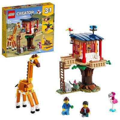 LEGO Creator 3in1 Safari Wildlife Tree House Building Toy 31116