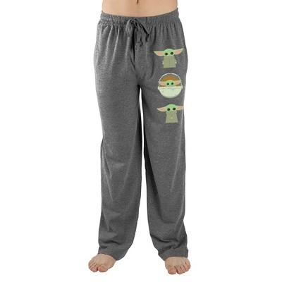 The Mandalorian Baby Yoda Star Wars Mens Grey Sleep Pants