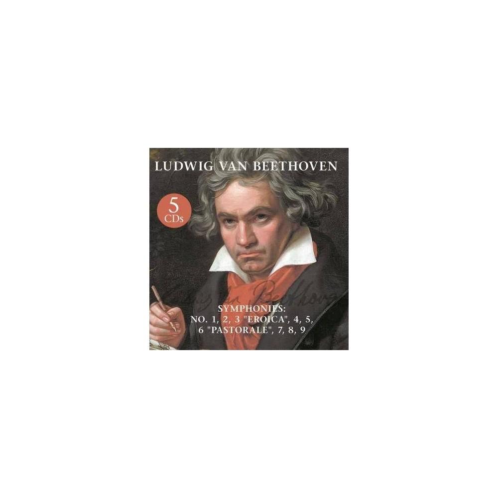 Ludwig van Beethoven - Symphonies: No. 1, 2, 3 Eroica, 4, 5, 6 Pastorale, 7, 8, 9 (CD)