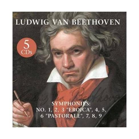Ludwig van Beethoven - Symphonies: No. 1, 2, 3 Eroica, 4, 5, 6 Pastorale, 7, 8, 9 (CD) - image 1 of 1