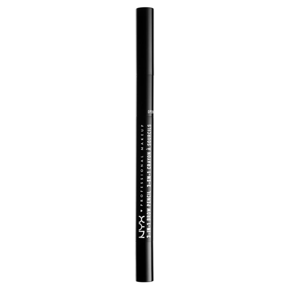 Nyx Professional Makeup 3 in 1 Brow Pencil Dark Brown - 0.5oz