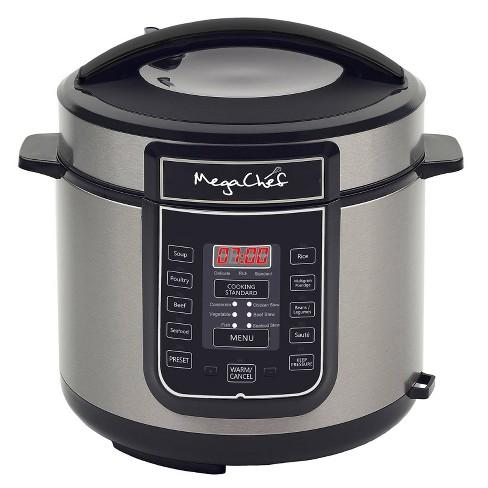 MegaChef 6qt Digital Pressure Cooker - Silver - image 1 of 3