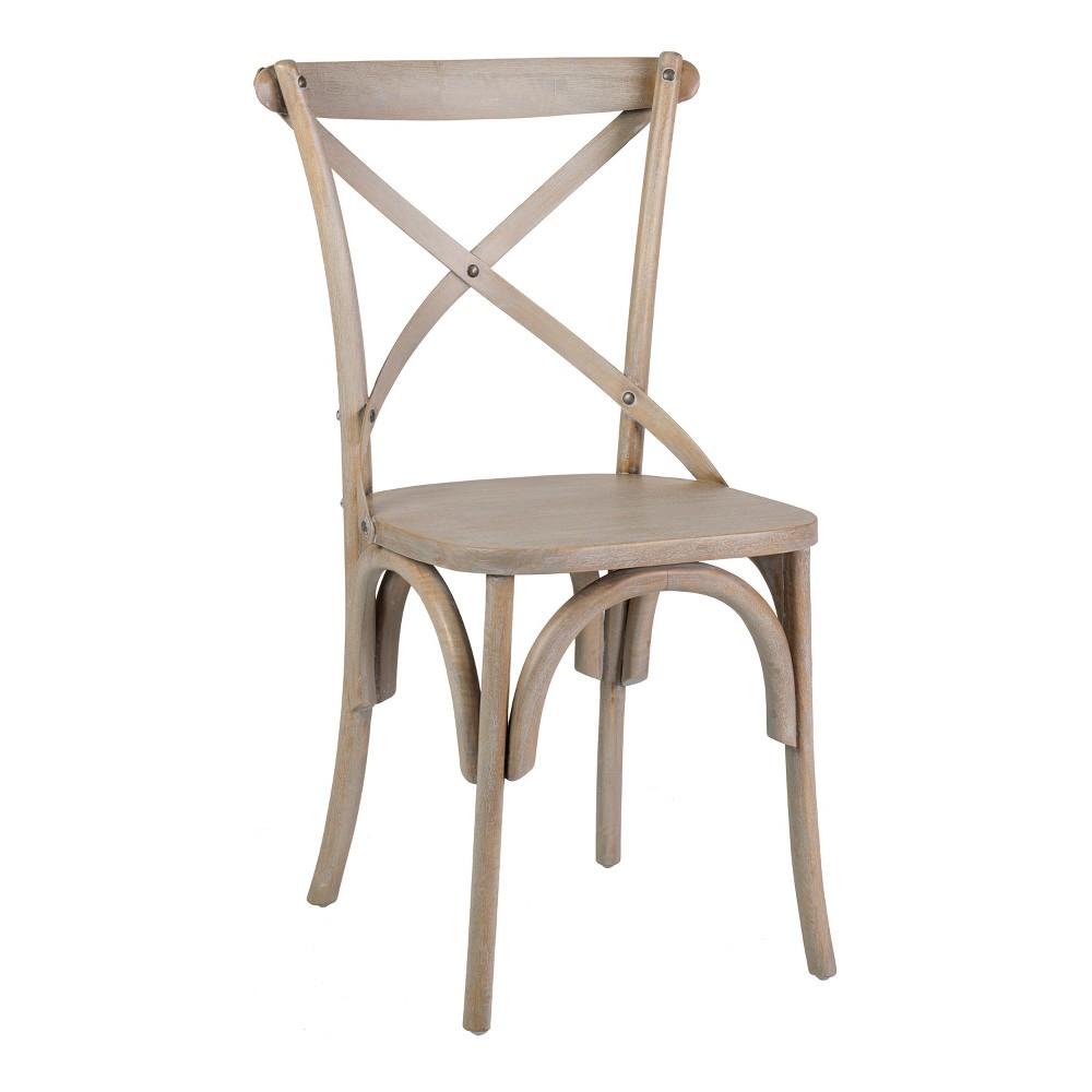 Kira Set of 2 Mango Wood Dining Chair Gray - East At Main