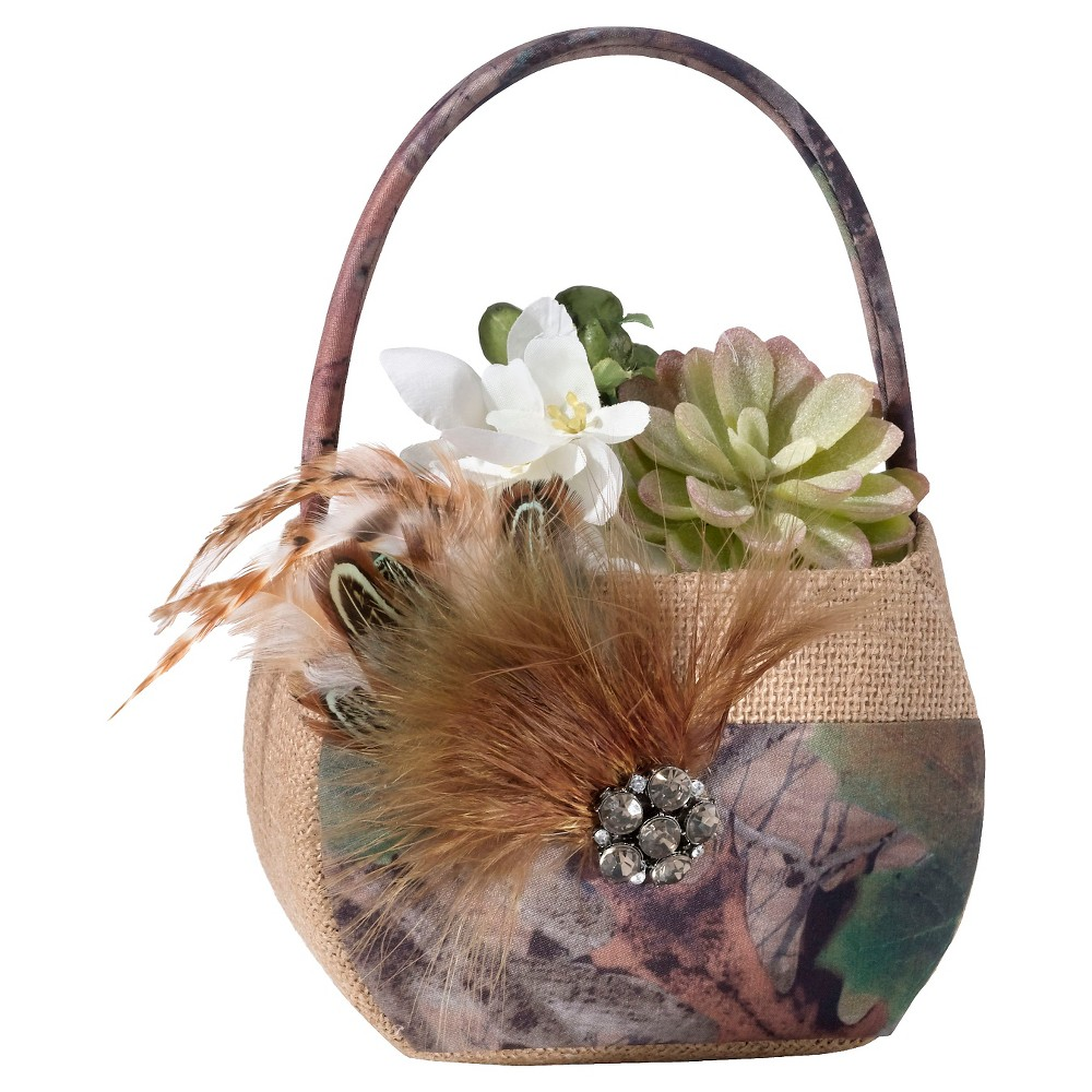 Image of Camouflage Flower Bucket - Beige