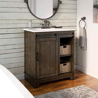 Pamari Cassara 30-in Barn Door Bathroom Vanity