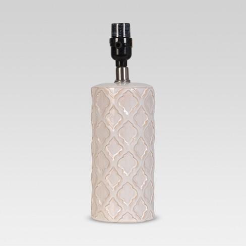 Lattice Ceramic Small Lamp Base Cream - Threshold™ - image 1 of 1