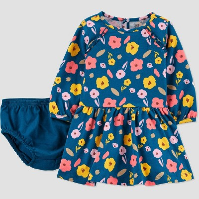 Baby Girls' Floral Dress - Just One You® made by carter's Blue 3M