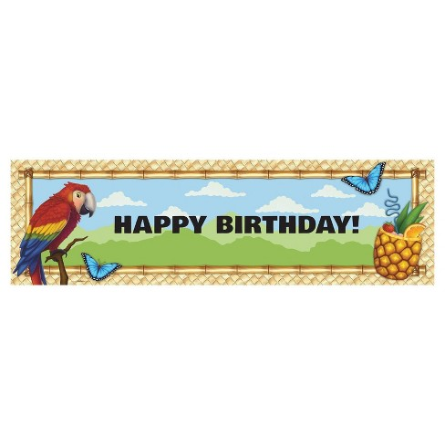Jungle Party Birthday Banner - Standard - image 1 of 1