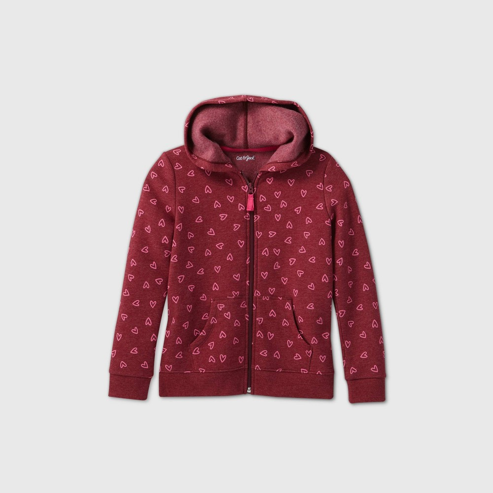 Reviews Girls' Heart Printed Zip-Up Hoodie - Cat & Jack™