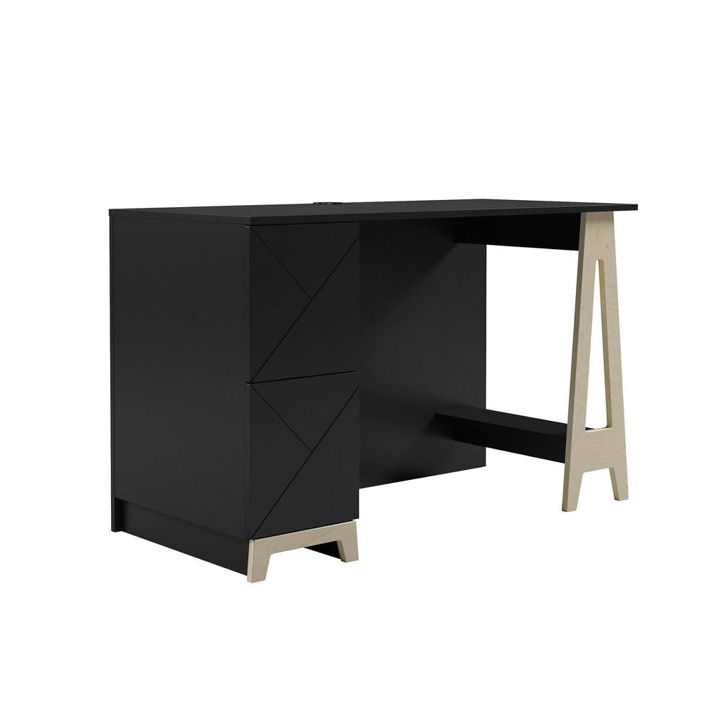 Atypik 2 Drawer Desk Black Russian Plywood Nexera