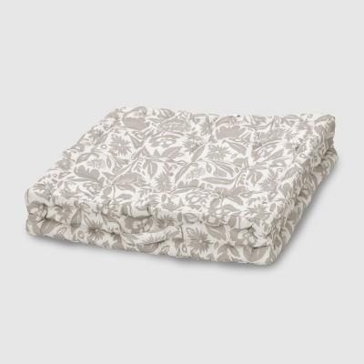 Garden Party Outdoor Tufted Floor Cushion Tan - Opalhouse™