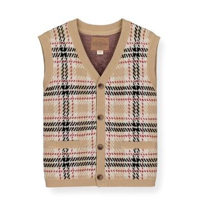 Hope & Henry Boys' Button Front Sweater Vest, Kids
