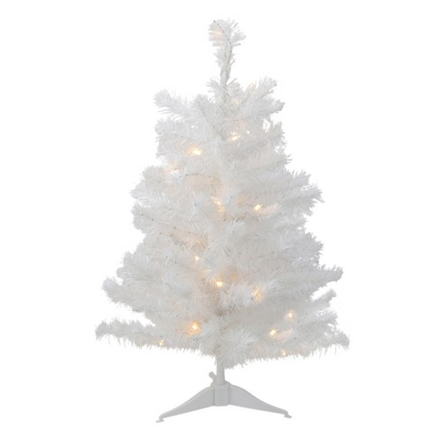 Northlight 3 Pre Lit Led Snow White Medium Artificial Christmas Tree Clear Lights