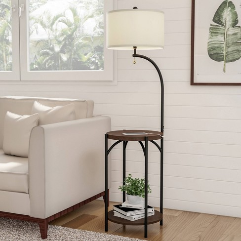 Floor Lamp End Table Includes Led