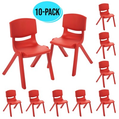 12in Resin School Stack Chair 10-Pack