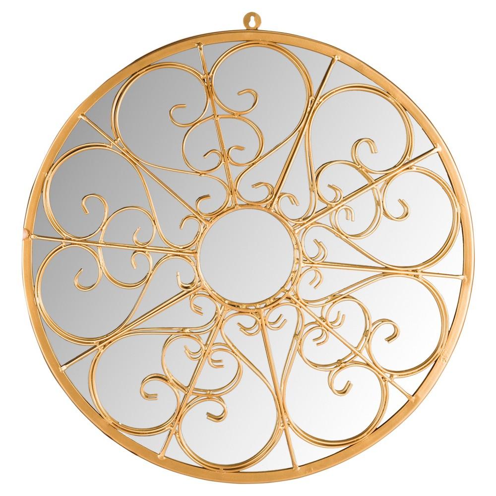 Round Austin Filigree Decorative Wall Mirror - Safavieh, Gold