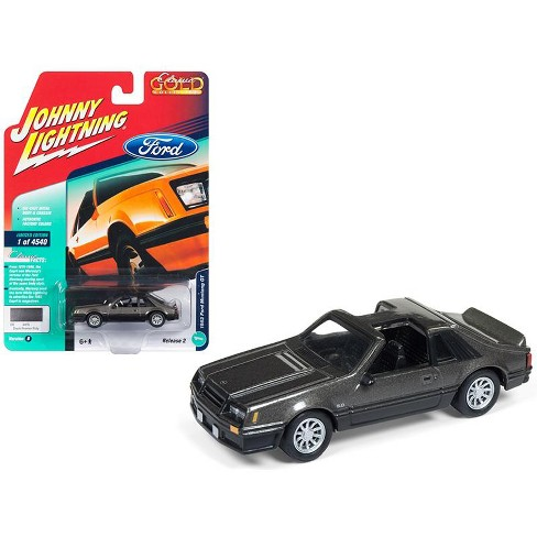 "1982 Ford Mustang GT 5.0 Dark Gray Metallic ""Classic Gold"" Ltd Ed 4540 pcs 1/64 Diecast Model by Johnny Lightning - image 1 of 1"