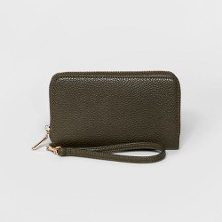 Zip Round Wallet - A New Day™ Olive