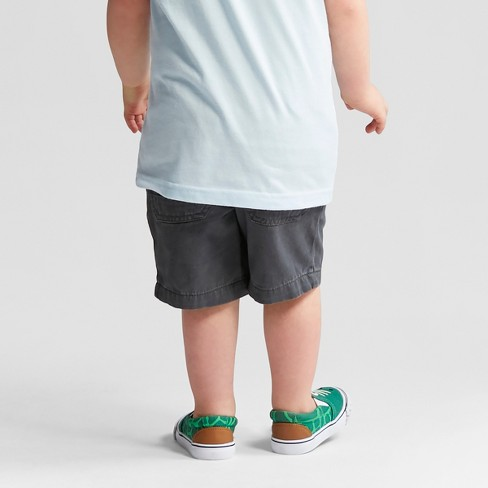 1cd9aa33f Toddler Boys' Pull-On Shorts - Cat & Jack™ Charcoal : Target