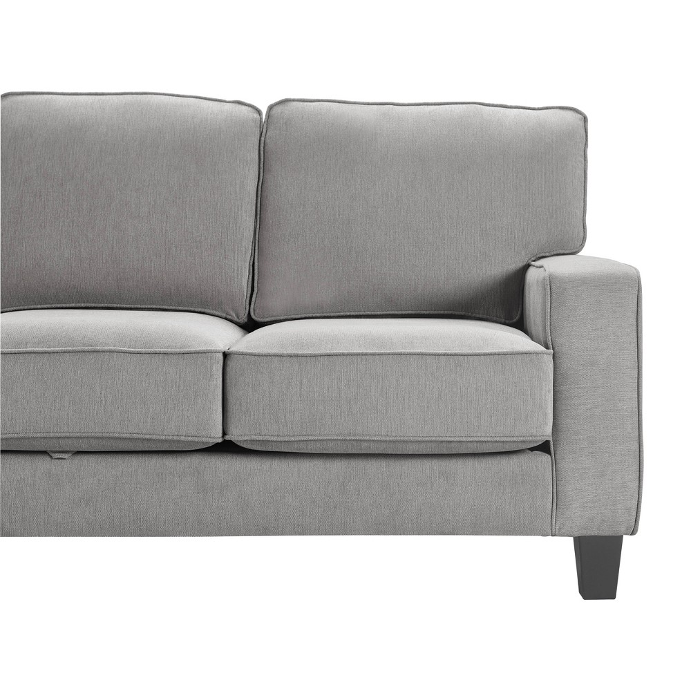 "Image of ""77"""" Palisades Track Arm Fabric Sofa with Storage Soft Gray - Serta"""