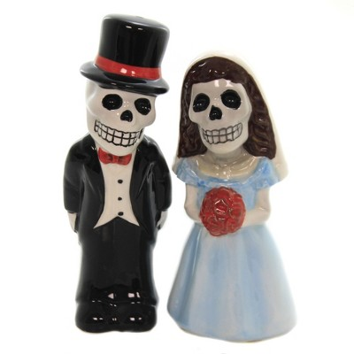 "Tabletop 4.5"" Love Never Dies Set/2 Salt Pepper Shakers Day Of Dead Pacific Trading  -  Salt And Pepper Shaker Sets"