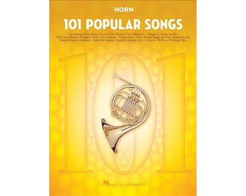Horn : 101 Popular Songs -  (101 Popular Songs) (Paperback) - image 1 of 1