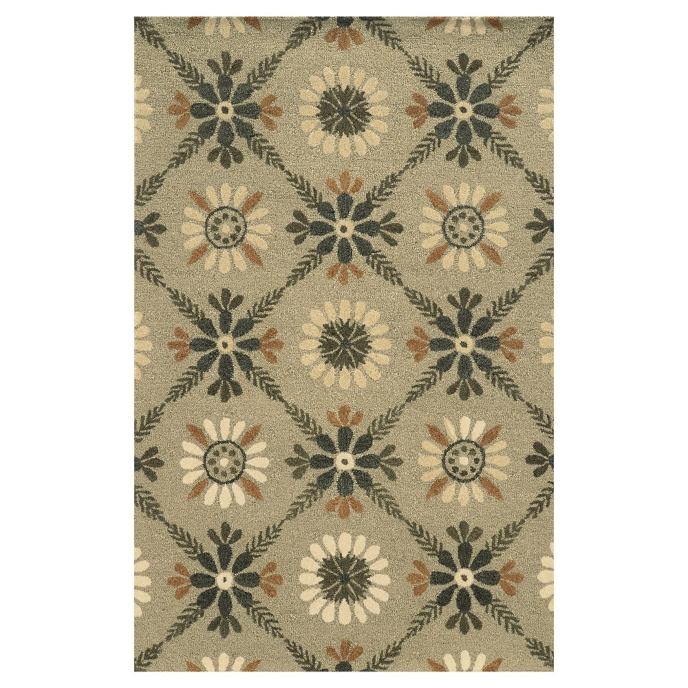 9'X12' Trellis Floral Area Rug Ivory - Rizzy Home, Multicolored White