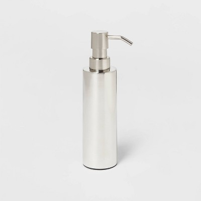 Brushed Stainless Steel Soap Dispenser - Threshold™