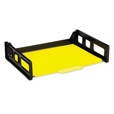 Officemate Recycled Desk Tray Side Load 9 x 13 3/16 x 2 3/4 Letter Black 1/EA 26052