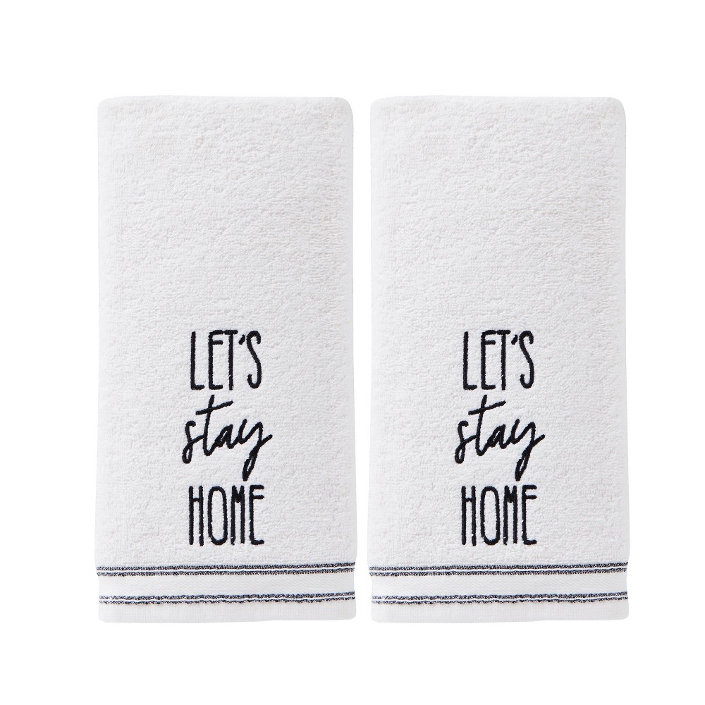 Image of 2pc Lets Stay Home Hand Towel Natural - SKL Home, Beige